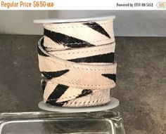 """On Sale NOW 25%OFF 20mm Best Quality Hair On Colt Double Stitched Flat Leather Cord - Zebra Gray - 8"""" by LRPJewelryBox - jewelry supplies - jewelry supply - jewelry making"""
