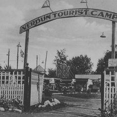 Le Verdun Tourist Camp était un camping dans le bout du boulevard Henri-Duhamel à Verdun. . #Montréal #Montreal #vintagemtl #yul #mtl #514 #verdunluv #proposmontreal . ProposMontreal.com Canada Eh, Tumblr, Old Pictures, Camping, Taj Mahal, Past, Nostalgia, Vacation, Genealogy