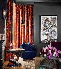 Ken Fulk, Elle Decor, Tudor, Interiors, Windows, Curtains, Rock, House, Design