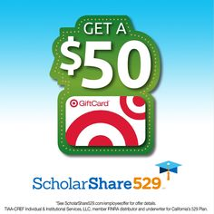 Have a college bound student? The company ScholarShare California's 529 College Savings Plan is having an amazing seasonal promotion this December 7-8. You can receive a $50 Target gift card, if you open a ScholarShare 529 account with an initial $50 contribution and set up of an Automatic Contribution Plan of $25 or more for 6 months.