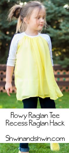 Flowy Raglan Tee || Pattern Hack - tutorial using a raglan T pattern