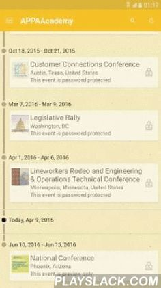 APPA Academy  Android App - playslack.com ,  Access information about multiple APPA conferences through the APPA Academy mobile app.The American Public Power Association offers several annual conference for employees of municipal electric utilities around the country. With this app, you will be able to access the mobile apps for these conferences through one easy-to-use mobile app including:- APPA National Conference & Public Power Expo- Business & Financial Conference- Customer…