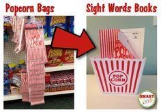 Smart Kids: Turn popcorn bags into popcorn words books.
