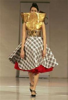 Hongkong designer Kanchan Couture, made from recycled plastic or organic materials