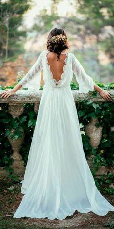 most pinned wedding dresses straight low back long sleeves boho simple kiwo photography