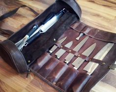 Chefs Knives Roll Gift for Him Chef knife bags Knife bag