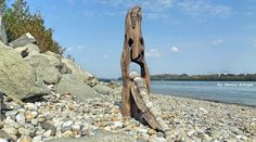 Driftwood and stone art in Hungary by tamas kanya
