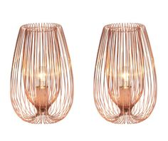 Pair OF SET OF 2 Contemporary Modern Copper Wire Table Bedside Lights Lamp | eBay