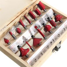 2016 New Arrival Special Offer High Quality 15Pcs/Set 1/4 Tungsten Professional Shank Carbide Router Bit Set Wood Case Box