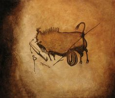 Lascaux Cave painting reproduced by Thomas Baker