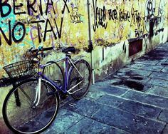 Graffiti and Bicycle  Florence Italy Street by BellaEvePhotography