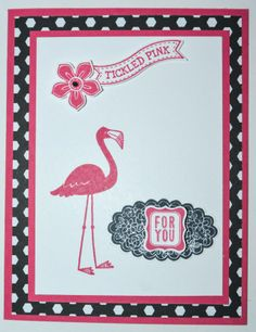 NEW Flamingo Lingo Stamp Set from the NEW Stampin' UP! 2014-2015 Catalog. Available for purchase June 1, 2014.