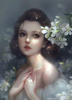 43 New Ideas for digital art girl chinese Art Anime Fille, Anime Art Girl, Manga Girl, Art And Illustration, Digital Art Girl, Digital Art Fantasy, Fantasy Girl, Portrait Art, Female Art