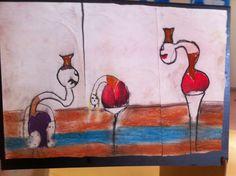 création d'un triptyque après avoir observé les peintures de francis bacon