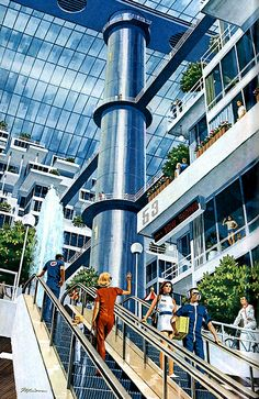 1976 ... shopping malls in space! artist- Pierre Mio