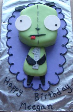 Gir (from Invader Zim) cake made by Nom Nom Sweeties! This WILL be Smashleys bday cake :)