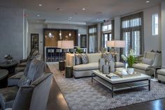 #TufenkianCarpets Custom Hand Tufted carpet - Chic and modern interior of a multi-family project in San Antonio TX designed by Karen Dramer & Associates http://www.tufenkiancarpets.com/Showroom.aspx