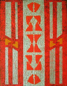 Pintura Abstrata <br>Acrílica sobre Painel <br>Geometric 4 <br>50x70cm