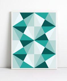 Mid century Poster, Mid Century Art print, retro Print Poster, Geometric Art Print, Geometric poster, Abstract Art Print, Abstract Posters. $19.99, via Etsy.