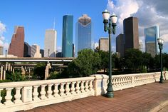 the Sabine Street Bridge offers the perfect opportunity for snapping a photo of Houston's downtown skyline