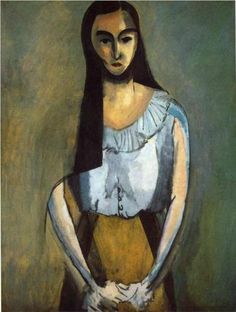 #HenriMatisse // I love the blurred outlines of the arms, giving a sense of motion and uncertainty; and the hair hides her shoulder like it's part of an invisible cloak that melts into the background. very cool.