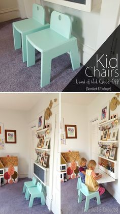 Tutorial on how to build these SUPER sturdy and adorable Mod Kid's Chairs... a Land of Nod Knock-off! {Sawdust and Embryos}