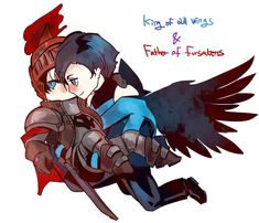 """operapink: """" King of all wings/Nightwing Father of forsakens/Red hood Costumes Remake:D I intended to design them seem to be kinda gods. """""""