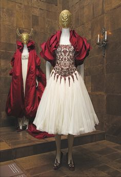 "Alexander McQueen Savage Beauty / Pieces from the Autumn / Winter 2008-09 ""The Girl Who Lived in the Tree"" collection."