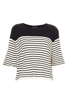 breton stripe boxy top / topshop