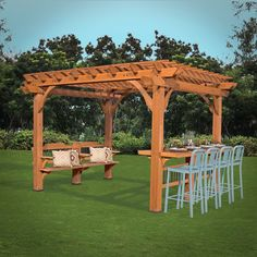 Spend quality time entertaining beneath the Oasis Pergola by Backyard Discovery…