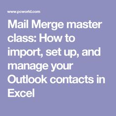 26 Best Outlook Mail Merge images in 2018 | Microsoft office