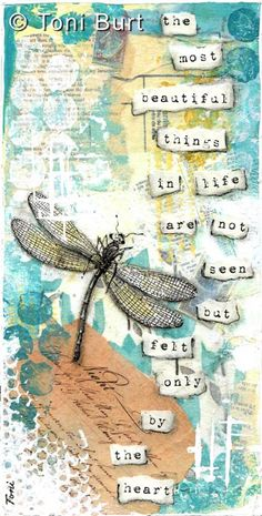 The most beautiful things inline... Dragonfly art journaling by Toni Burt - my portfolio