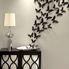 Schmetterlinge an der Wand