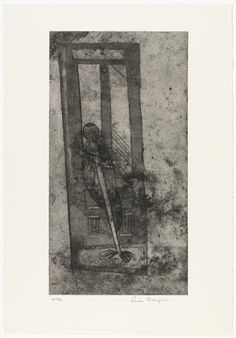 Louise Bourgeois. Thompson Street, plate 8, state IV, from Quarantania. (1948, reprinted and published 1990)