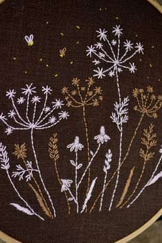 Wildflower Hand Embroidery patterns Night meadow Hand
