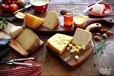 Selection of Slovenian cheeses