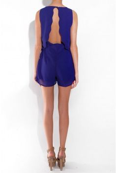 Scallop Playsuit - New In