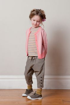 easy pant remake on too short pants -- love this whole outfit and hair and everything.  Super cute.