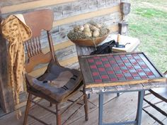 I love the idea of the checkerboard table so your board doesn't blow off!