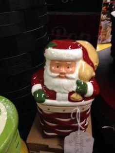 Vintage Christmas Santa Claus cookie jar at Scranberry Coop