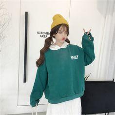 Green Hoodies, Sport Style, Ulzzang Girl, Sport Fashion, Korean Girl, Adidas Jacket, Kawaii, Rainbow, Poses