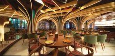 Karamna Alkhaleej restaurant by 4SPACE, UAE - Dubai; Layered design