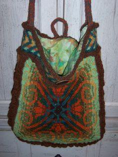 Fair Isle knitted bag