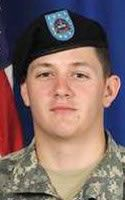 Pvt. 1st Class Douglas L. Cordo. 1-24th Infantry Regiment, 1st Stryker Brigade Combat Team, 25th Infantry Division of Fort Wainwright, Alaska. PFC Cordo was 20 years old and from Kingston, New York. He died August 19, 2011 when attacked by an IED in Zabul Province, Afghanistan.