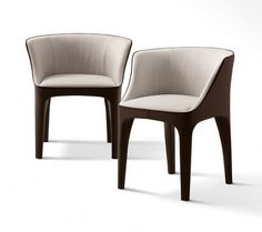 Contemporary chair / upholstered / in wood / leather DIANA by Carlo Colombo GIORGETTI