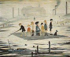 L.S. Lowry - The Raft 1956