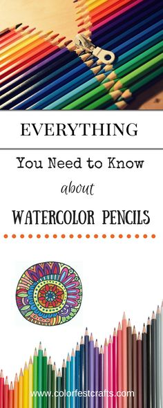 All you need to know about how to use watercolor pencils #watercolorpencils