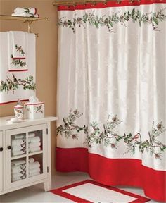 Lenox Winter Song Christmas Shower Curtain is a lovely bathroom decorating theme for the holidays and it makes a great gift idea too! Decor, Bedding And Bath, Christmas Decorations For The Home, Bathroom Shower Curtains, Christmas Bathroom, Decorating Bathroom, Curtains, Christmas Bathroom Decor, Bathroom Decor