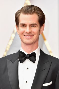 Andrew Garfield arrives on the Oscars red carpet for the 89th Academy Awards.