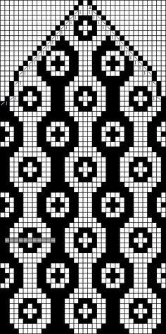 Knitting Charts, Loom Knitting, Knitting Socks, Knitting Patterns, Bead Loom Patterns, Stitch Patterns, Crochet Chart, Knit Crochet, Tapestry Crochet